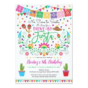 Fiesta Drive By Birthday Mexican Party Parade Invitation