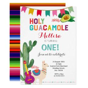 Fiesta Holy Guacamole Birthday Girl or Boy Invitation