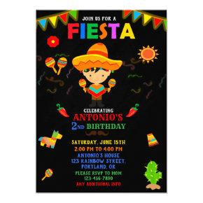 Fiesta invitation Fiesta birthday invitation boy