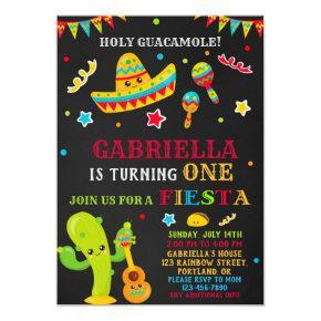 Fiesta invitation Fiesta birthday invitation Girl