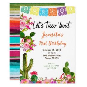 Fiesta Mexican 1st Birthday Party Invitation