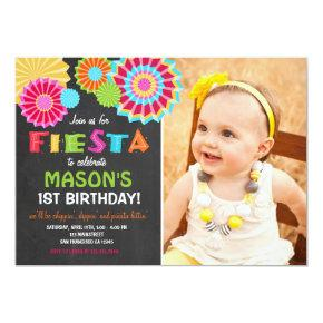 Fiesta Mexican Birthday Party Invitations