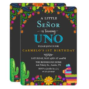 Fiesta Senor First Birthday Invitation