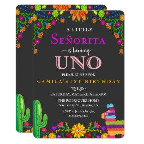 Fiesta Senorita First Birthday Invitation