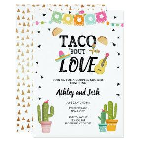 Fiesta Taco Bout Love Cactus Couples Shower Invitation
