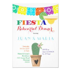 Fiesta Wedding Rehearsal Dinner Invitation