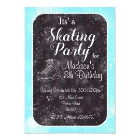 Figure Skating Birthday Invitation
