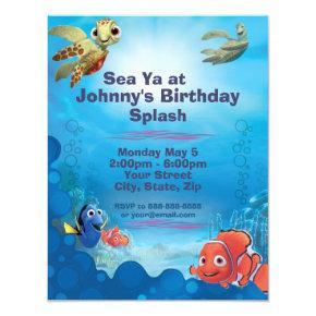 Finding Nemo Birthday Invitation