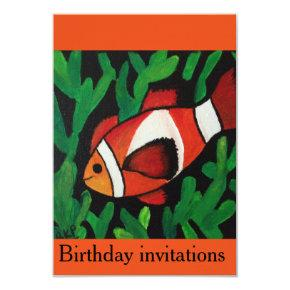 Finding Nemo birthday invitations for kids