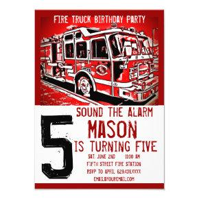Fire Truck Firefighter Kids Birthday