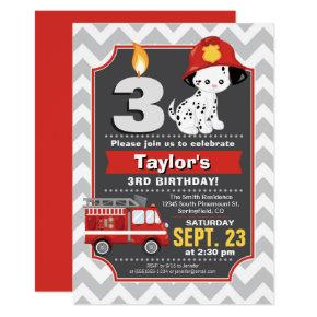 Firefighter Birthday Invitations