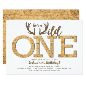 First Birthday Boy Wild One Invitation