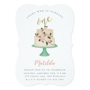 First birthday cake party Invitations