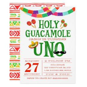 FIRST BIRTHDAY FIESTA Invitations