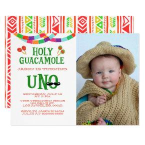 FIRST BIRTHDAY FIESTA - PHOTO CARD