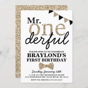 First Birthday Mr Onederful Invitation
