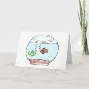 Fish Bowl Birthday Invitation