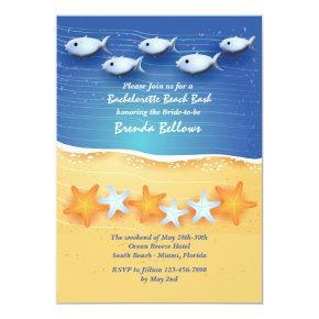 Fish in the Sea Bachelorette Party Invitations