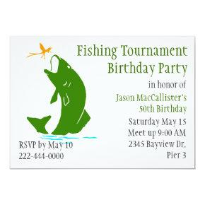 Fisherman's Birthday Party Invitations