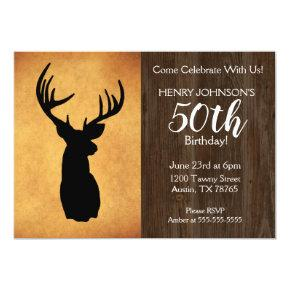 Fishing Hunting Theme 50th Birthday Party Invitation