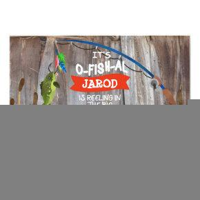 Fishing Outdoorsman Themed Birthday Invitations