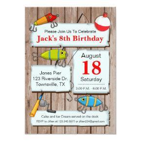 Fishing Theme Party Invitations