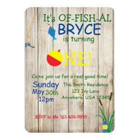 Fishing themed Birthday Invitation