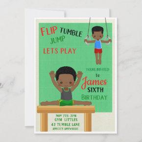 Flip & Tumble Birthday Invitation