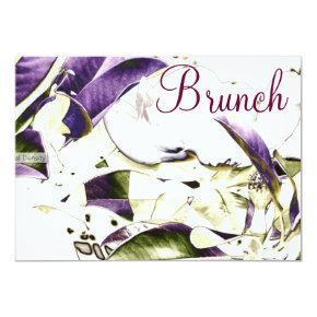 Floral Brunch Invitation
