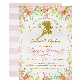 Flower Fairy Birthday Invitation