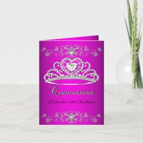 Folded  Quinceanera Pink Tiara Photo
