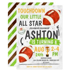 Football All Star Party Birthday