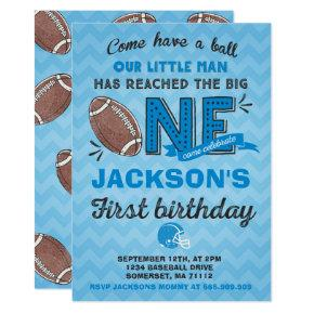 Football Birthday Invitations Football 1st Birthday