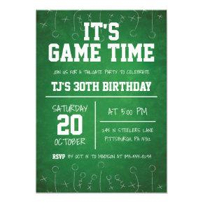 Football Birthday Invitation, Sports Party Invite