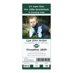 Football Birthday Ticket Invitation
