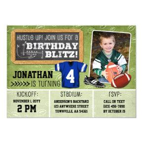 Football Blitz Kids' Birthday Party Invitations