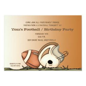 Football Gear - Party Invitations