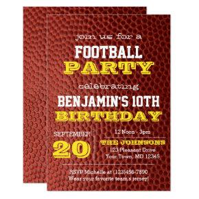 Football Gold All Occasion Invitations