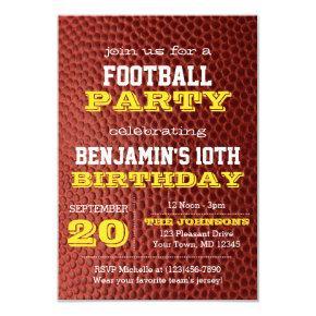 Football Gold All Occasion Invitation