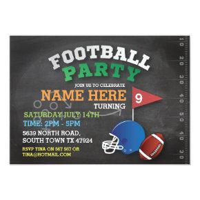 Football Party Sports Invite Birthday Invitation
