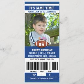 Football Photo Template Birthday Party