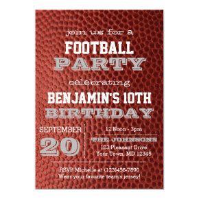 Football Silver All Occasion Invitation