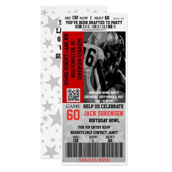 football ticket sports theme party invitations candied clouds