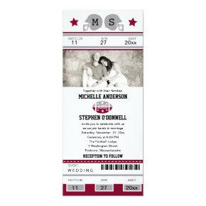 Football Ticket Wedding Invitation