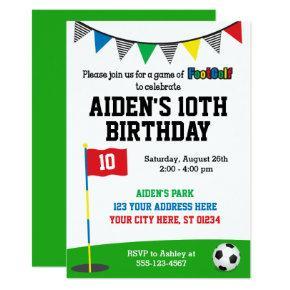 FootGolf Birthday Invitation | Soccer Golf