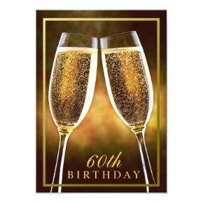 Formal 60th Birthday Invitation