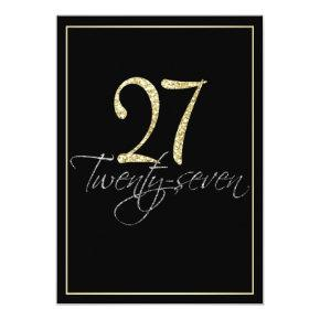 Formal Silver Black and Gold 27th Birthday Party Card