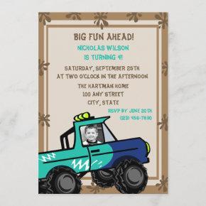 Four Wheel Fun/ Birthday Invitation
