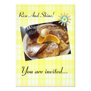 French Toast - Custom Breakfast Invitation