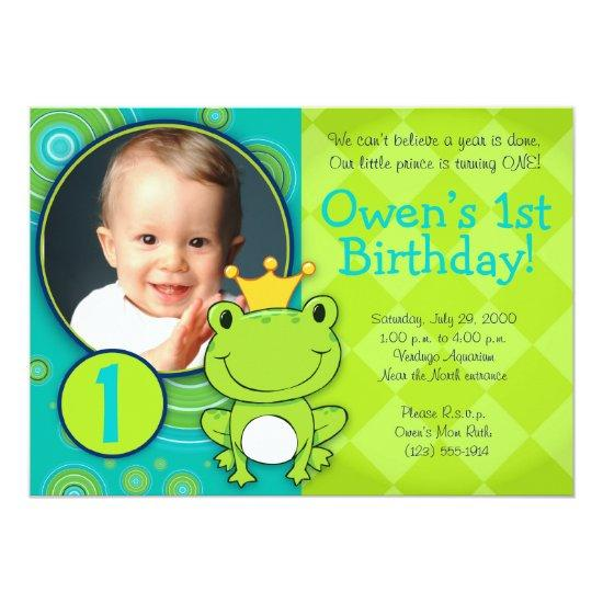 Frog Prince Birthday Card Candied Clouds